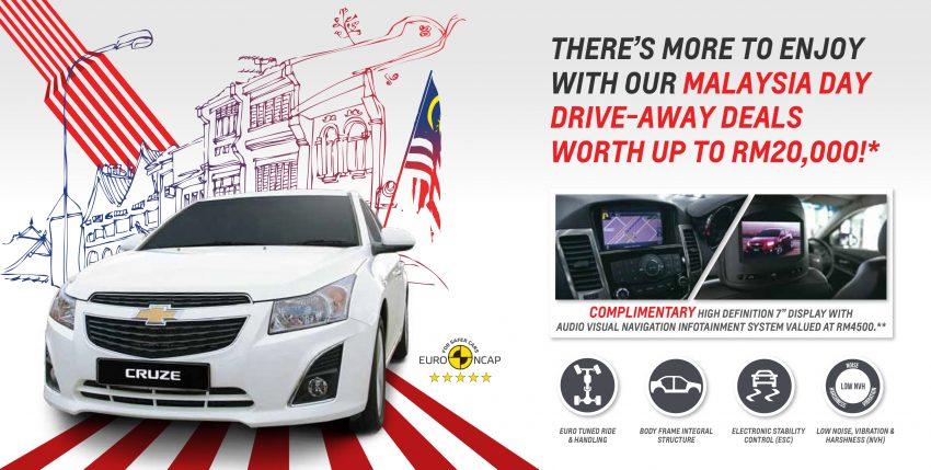 Chevrolet国庆促销,Cruze折扣2万令吉+赠送原厂配件! Image #4050
