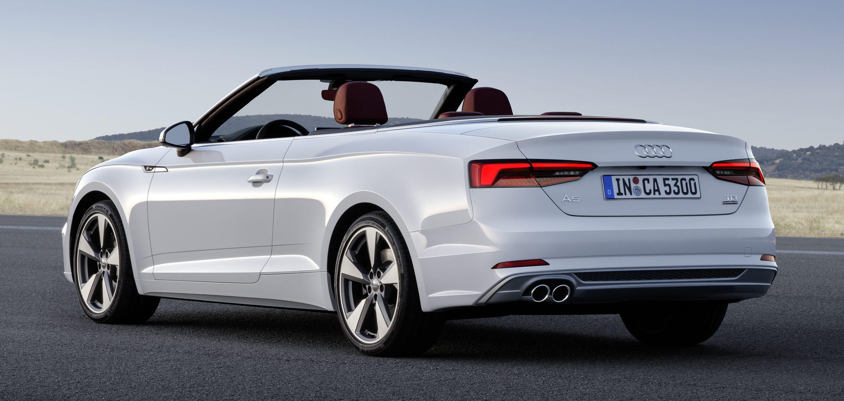 A5家族全新敞篷车,audi A5 Cabriolet 与 S5 Cabriolet。 Audi A5