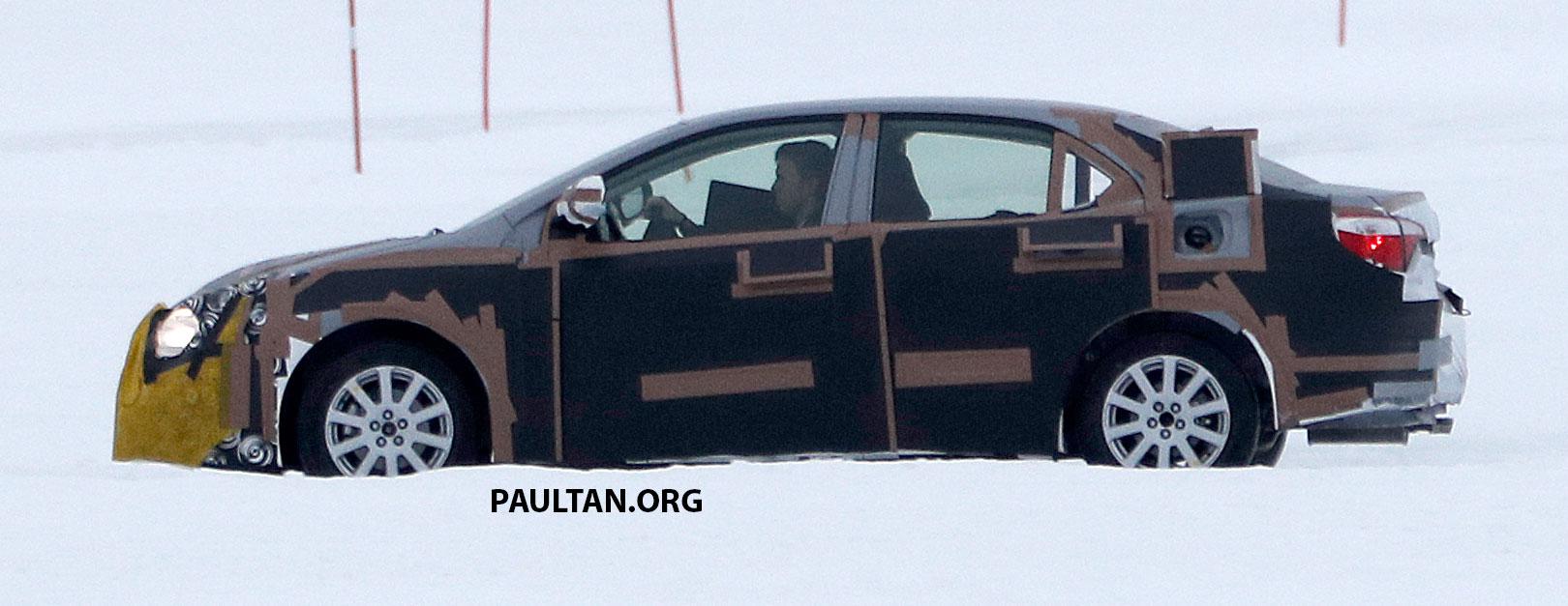 全新 Toyota Corolla 积极开发,国外雪地测试谍照曝光。 Toyota Corolla 005