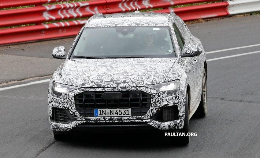 全新 Audi Q8 纽柏林测试谍照曝光,无窗框双荧幕设计! Image #31320