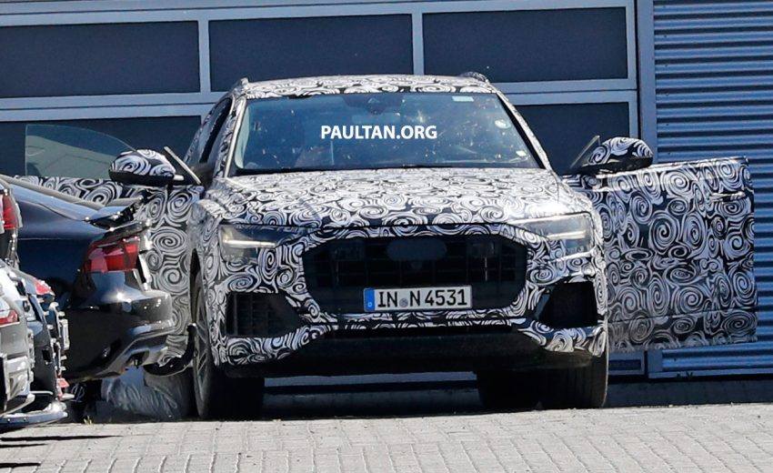全新 Audi Q8 纽柏林测试谍照曝光,无窗框双荧幕设计! Image #31327