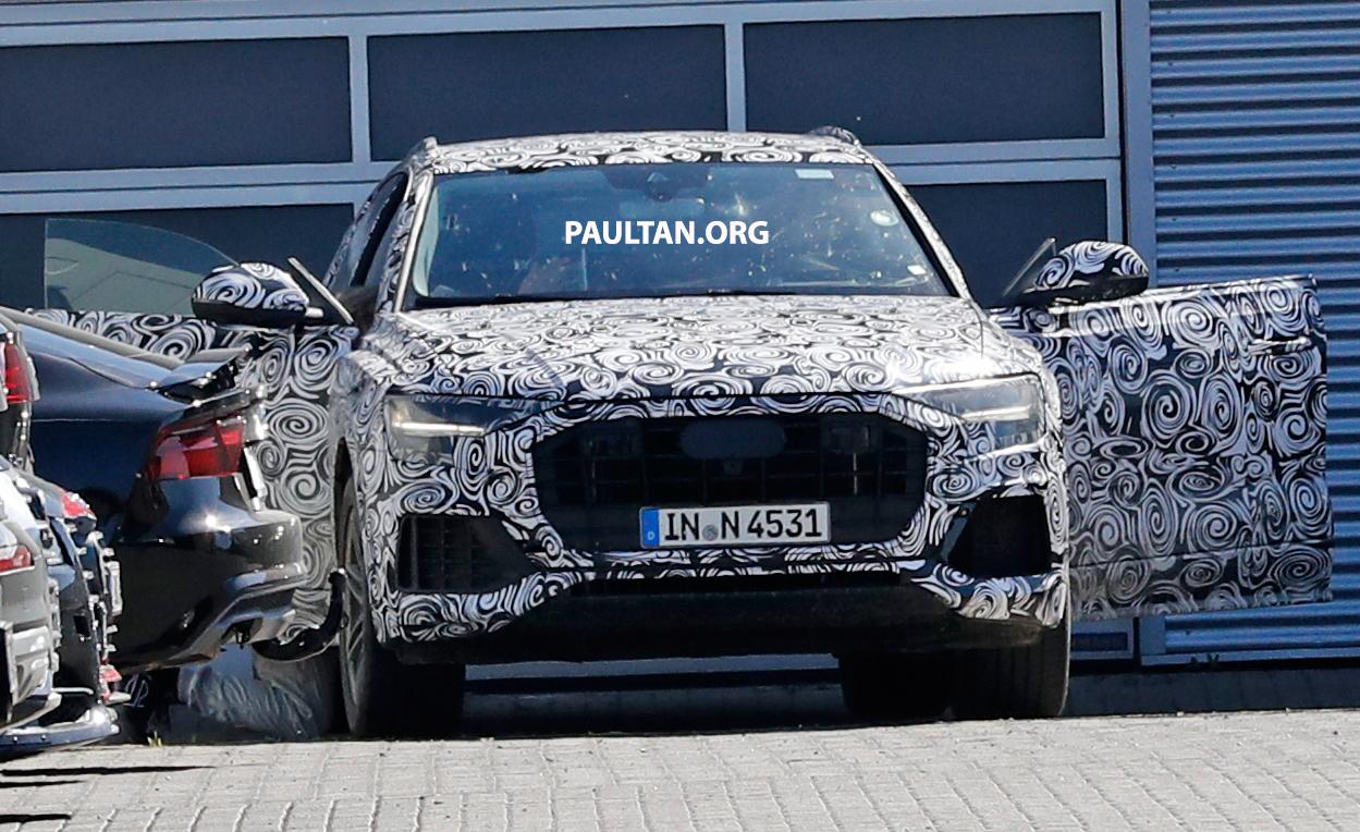 全新 Audi Q8 纽柏林测试谍照曝光,无窗框双荧幕设计! Audi Q8 Spyshots 08 1