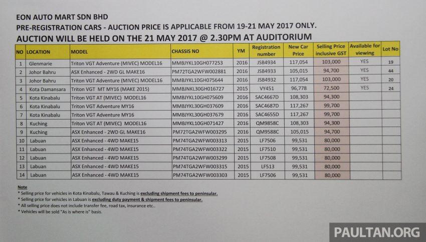 开斋节促销, Mitsubishi Demo及预注册车最低售RM 27K。 Image #30272