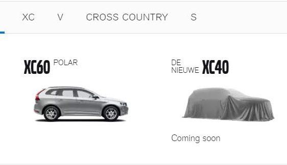 发布前先上架!volvo Xc40 现身海外官网 ,开放注册! Volvo Xc40 Netherlands