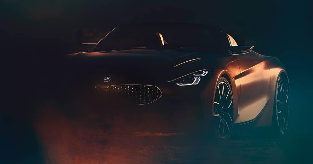 原厂又释新预告图 Bmw Z4 概念轿跑明日美车展首发! Bmw Z4 Concept Teaser Paul