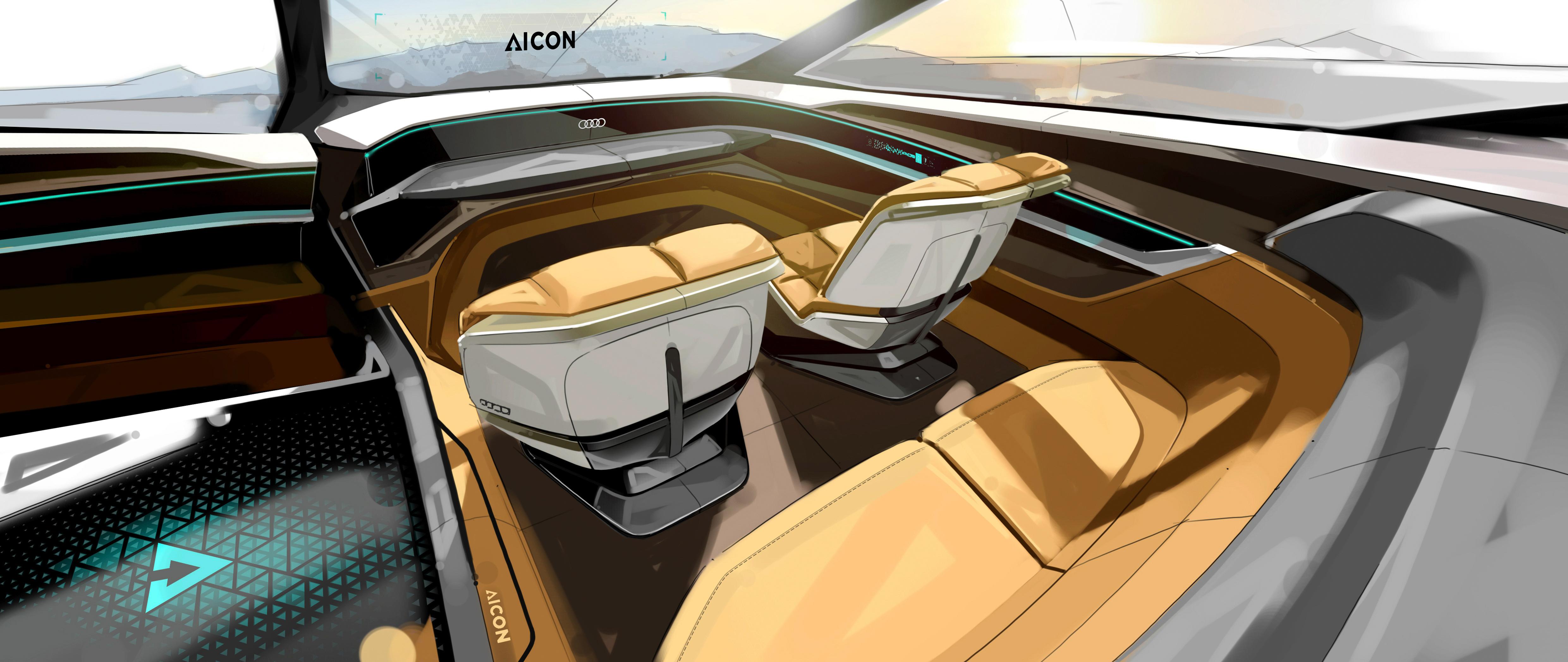 法兰克福车展 Audi Aicon Concept Lvl 5 级别自动驾驶 2017 Audi Aicon