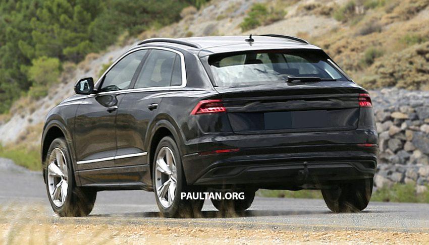 填补战力,全新Coupe型SUV Audi Q8 西班牙谍照曝光。 Image #53527