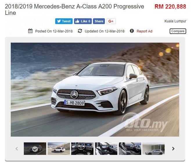 发布在即?新一代 2018 Mercedes-Benz A-Class 出现在 <em>oto.my</em>-A200 Progressive Line 本地售价 RM220,888 Image #61320