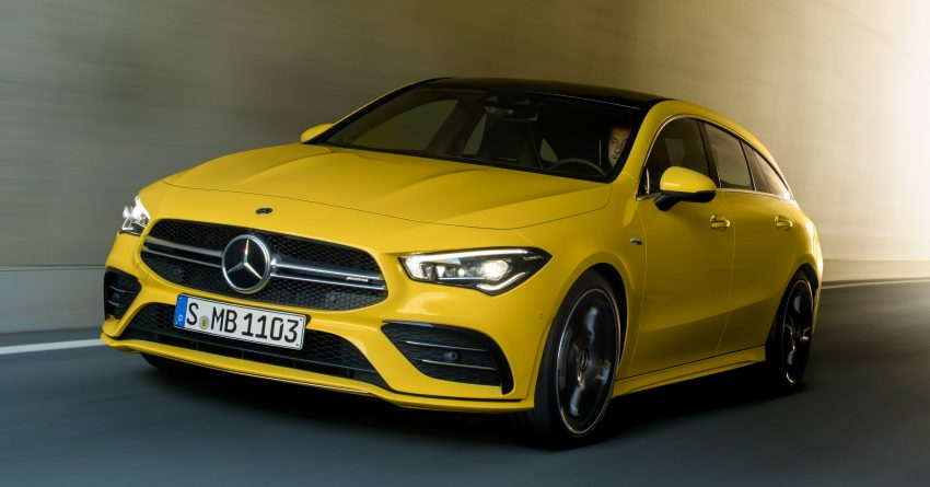 Mercedes-AMG CLA 35 Shooting Brake 发布, 4.9秒破百 Image #97316