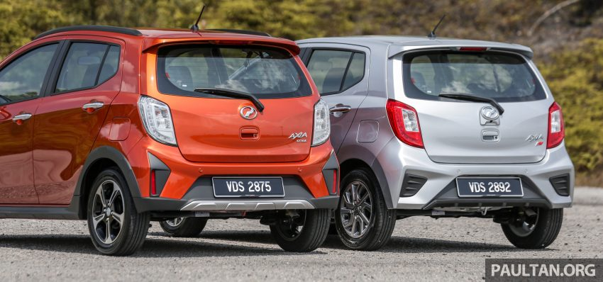 新车实拍对比:2019 Perodua Axia 1.0 AV 与 1.0 Style Image #107659