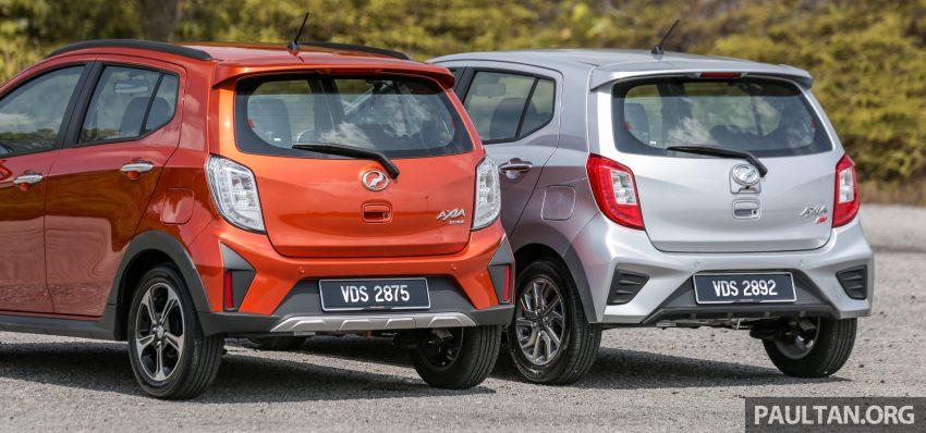新车实拍对比:2019 Perodua Axia 1.0 AV 与 1.0 Style Image #107658