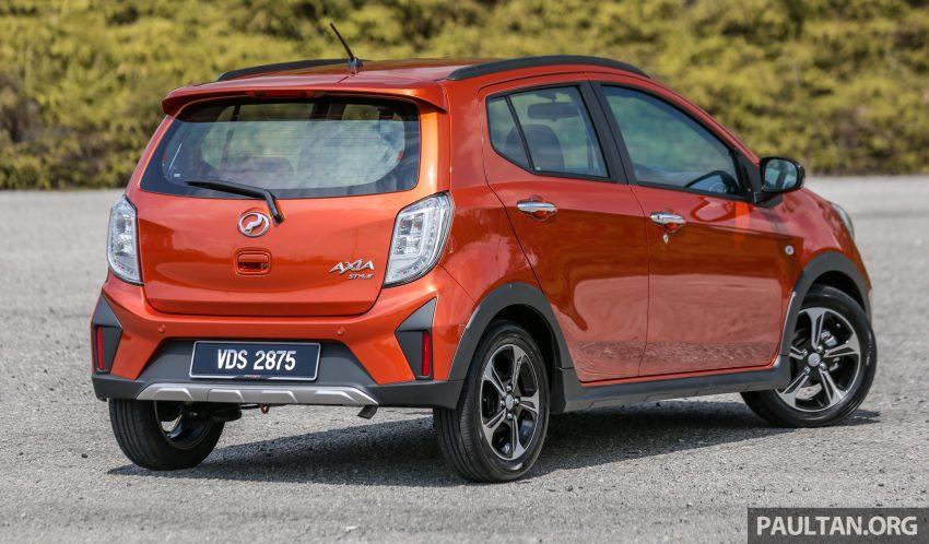 新车实拍对比:2019 Perodua Axia 1.0 AV 与 1.0 Style Image #107736