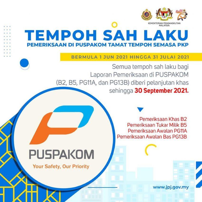 JPJ 宣布延长驾照、车牌与PUSPAKOM报告有效期限 Image #157706