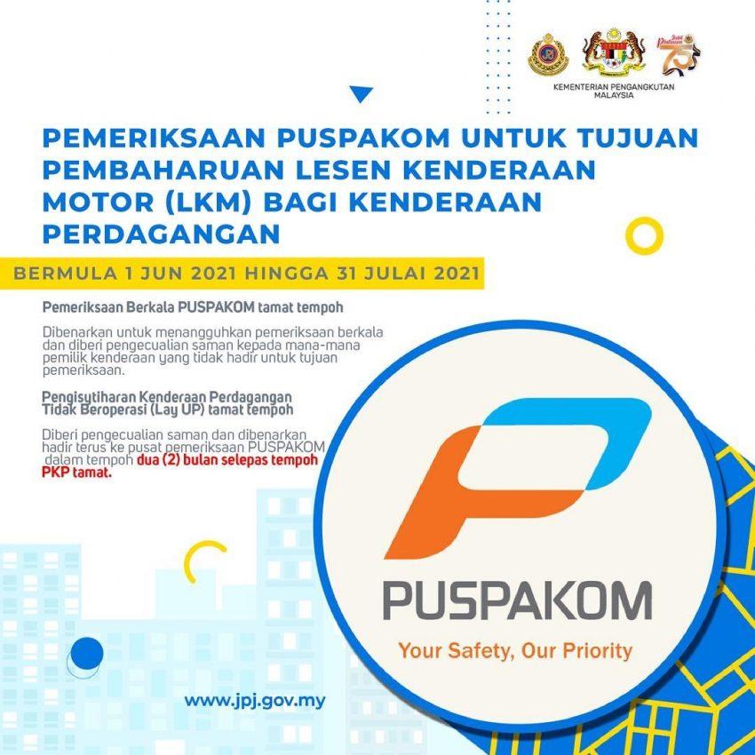 JPJ 宣布延长驾照、车牌与PUSPAKOM报告有效期限 Image #157710