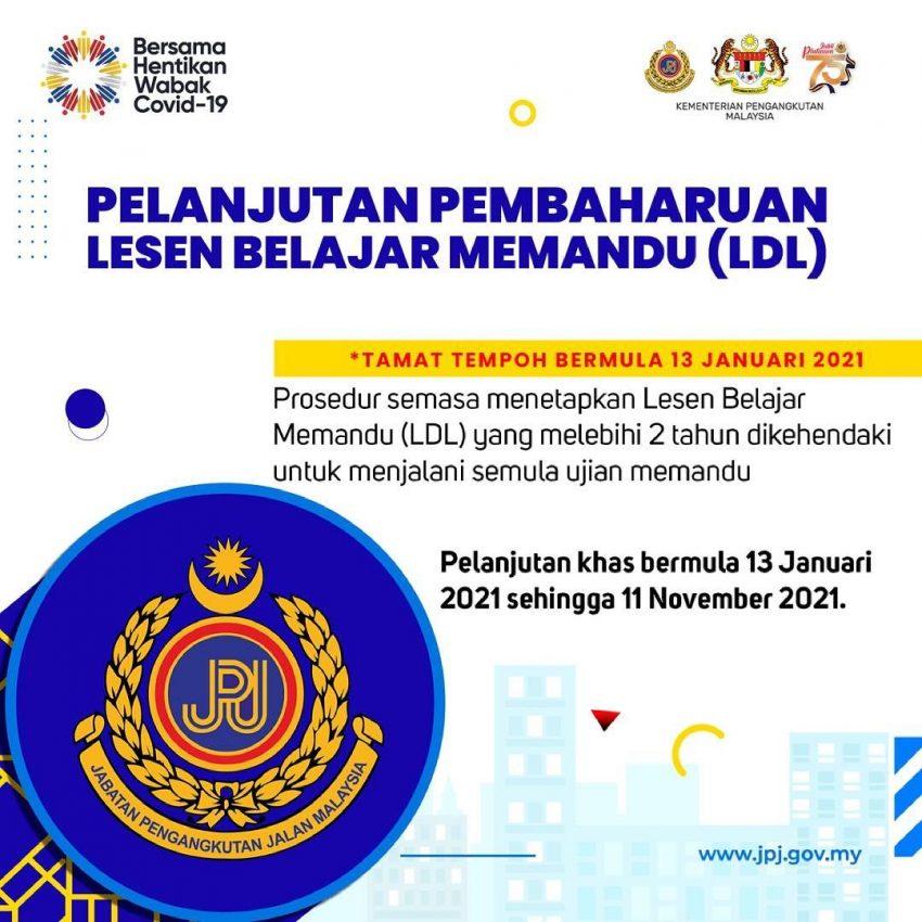 JPJ 宣布延长驾照、车牌与PUSPAKOM报告有效期限 Image #157711