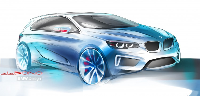BMW Concept Active Tourer: Munich's B-Class competitor is front wheel drive! Image #131364