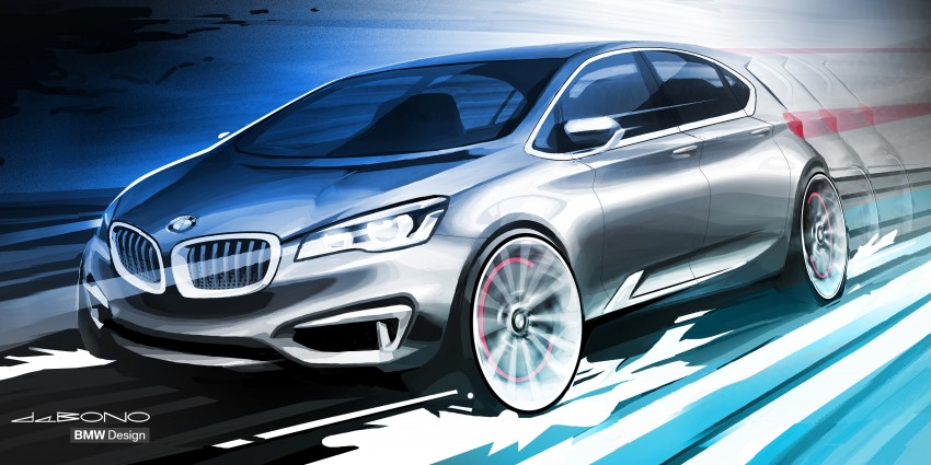 BMW Concept Active Tourer: Munich's B-Class competitor is front wheel drive! Image #131366