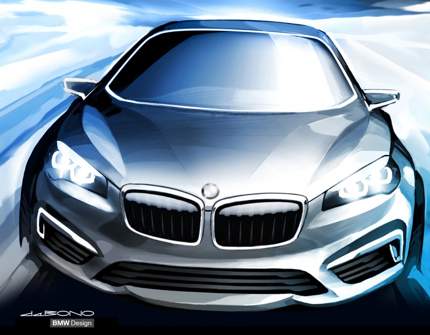 BMW Concept Active Tourer: Munich's B-Class competitor is front wheel drive! Image #131369