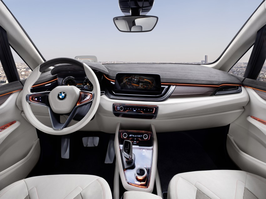 BMW Concept Active Tourer: Munich's B-Class competitor is front wheel drive! Image #131372