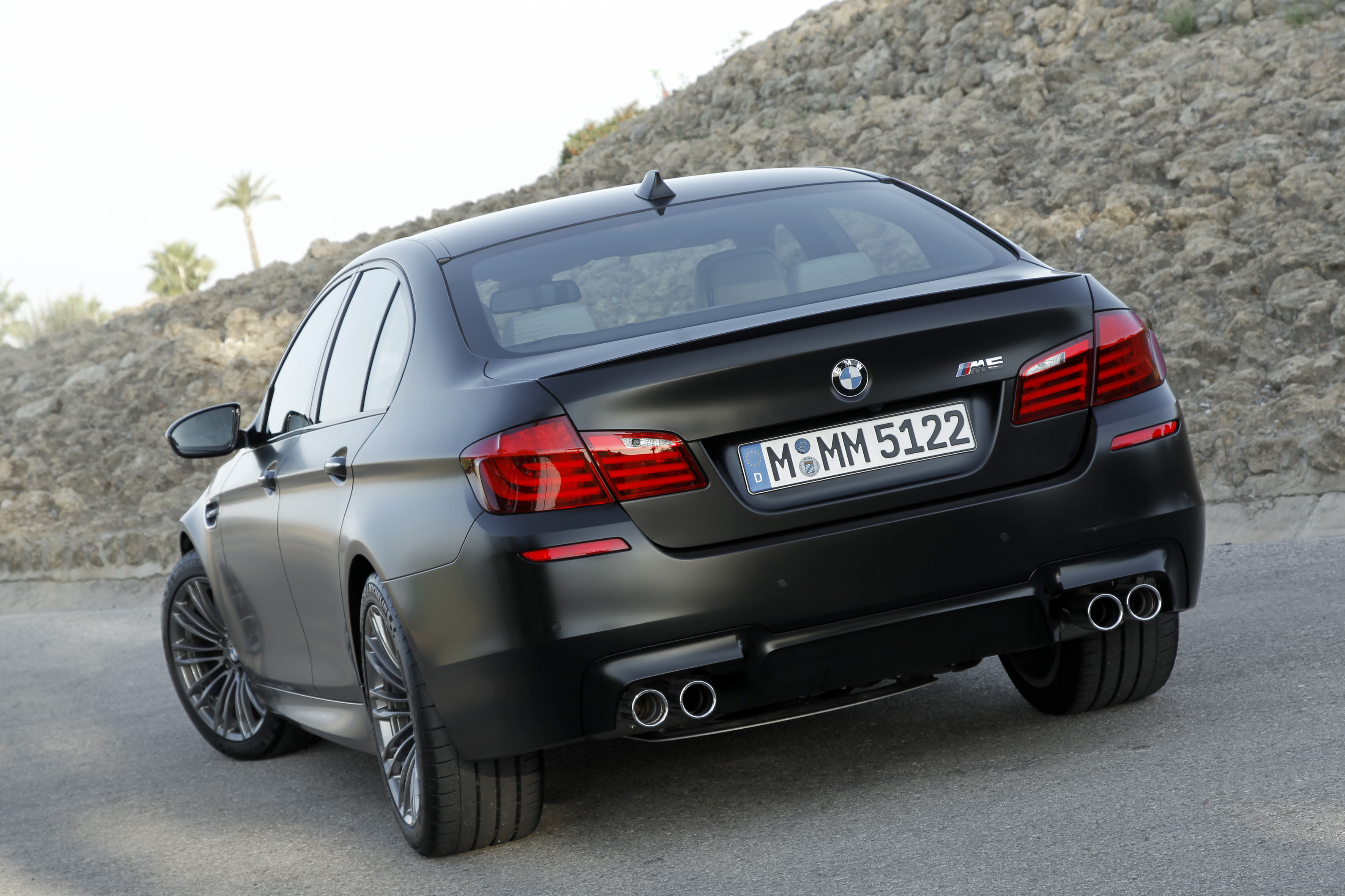 F10 BMW M5 showcased in Frozen Black matte paintjob Image 72043