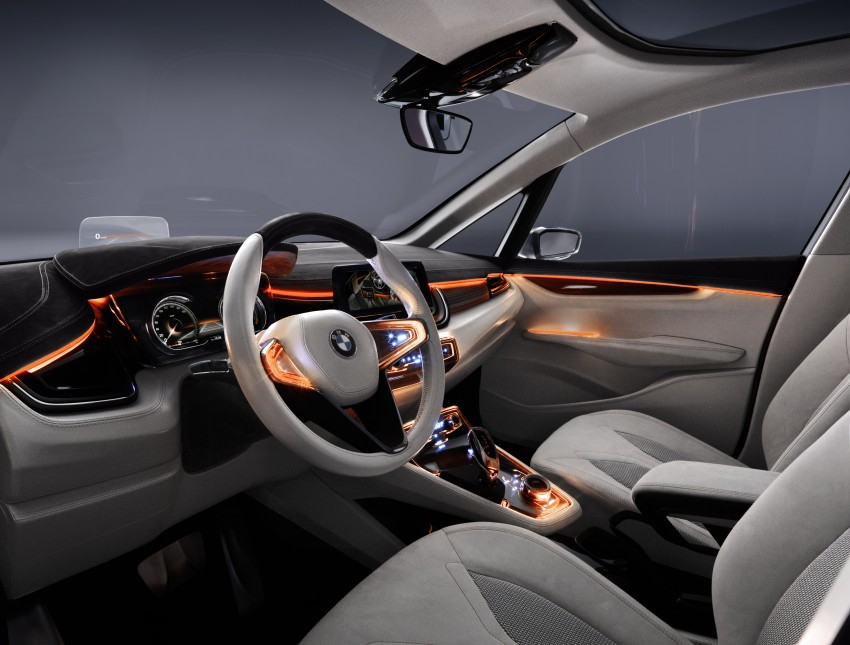 BMW Concept Active Tourer: Munich's B-Class competitor is front wheel drive! Image #131377