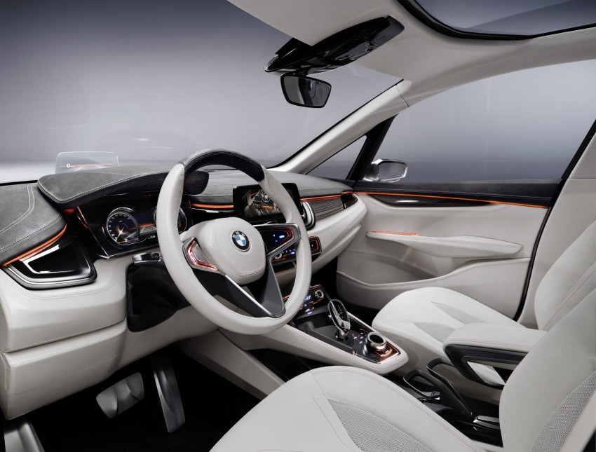 BMW Concept Active Tourer: Munich's B-Class competitor is front wheel drive! Image #131381