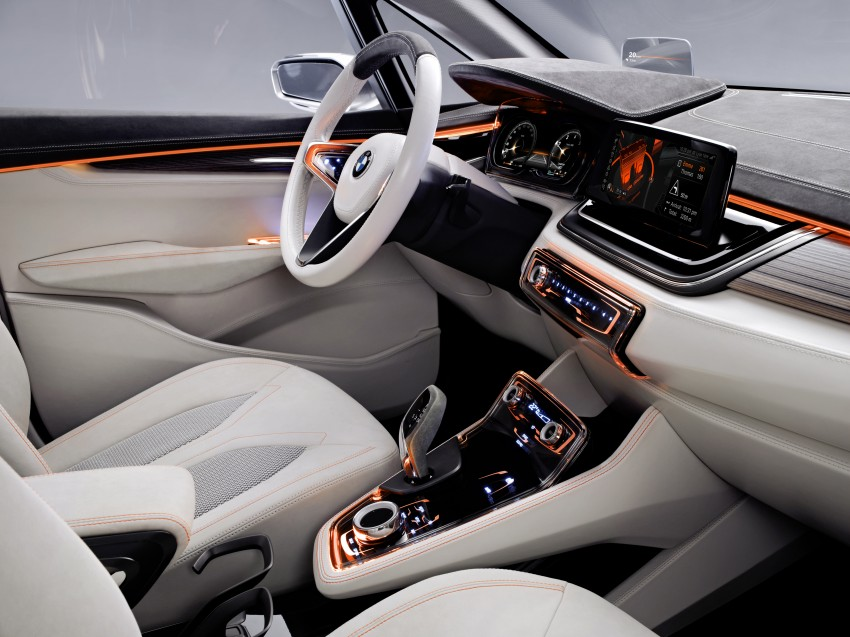 BMW Concept Active Tourer: Munich's B-Class competitor is front wheel drive! Image #131389