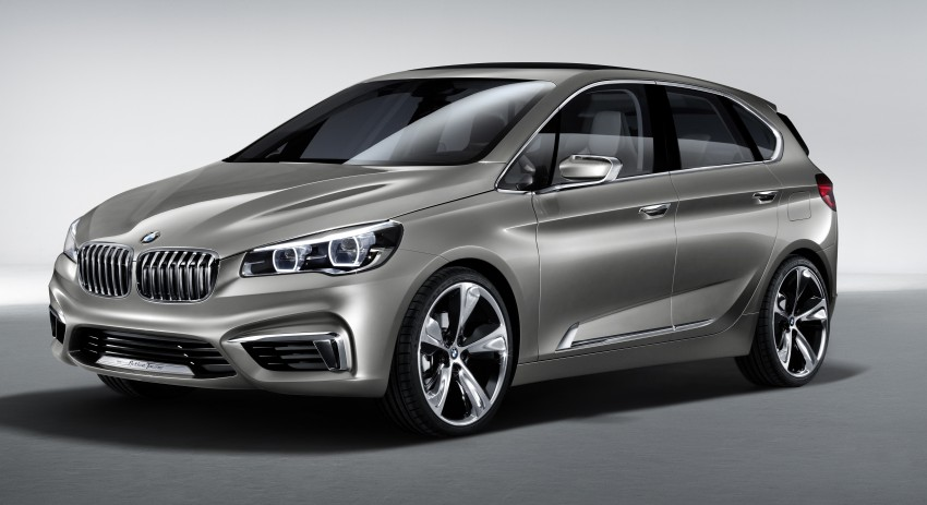 BMW Concept Active Tourer: Munich's B-Class competitor is front wheel drive! Image #131392