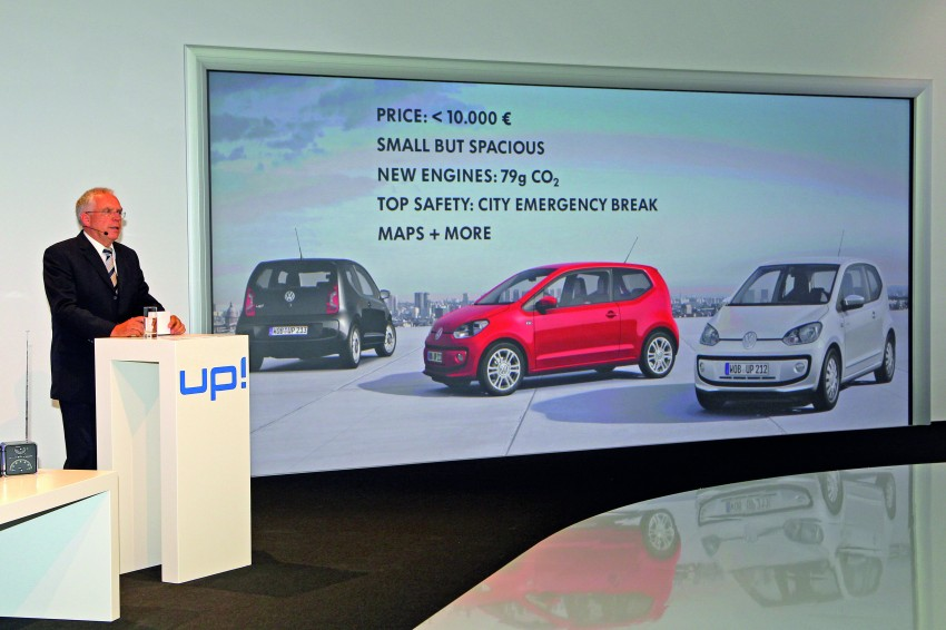 Volkswagen up! – production car debut at Frankfurt 2011 Image #69857