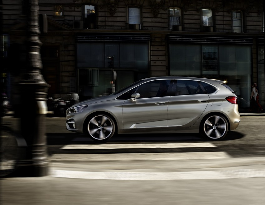 BMW Concept Active Tourer: Munich's B-Class competitor is front wheel drive! Image #131402