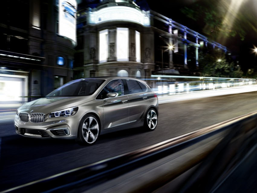 BMW Concept Active Tourer: Munich's B-Class competitor is front wheel drive! Image #131403