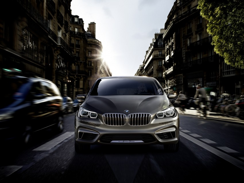 BMW Concept Active Tourer: Munich's B-Class competitor is front wheel drive! Image #131404