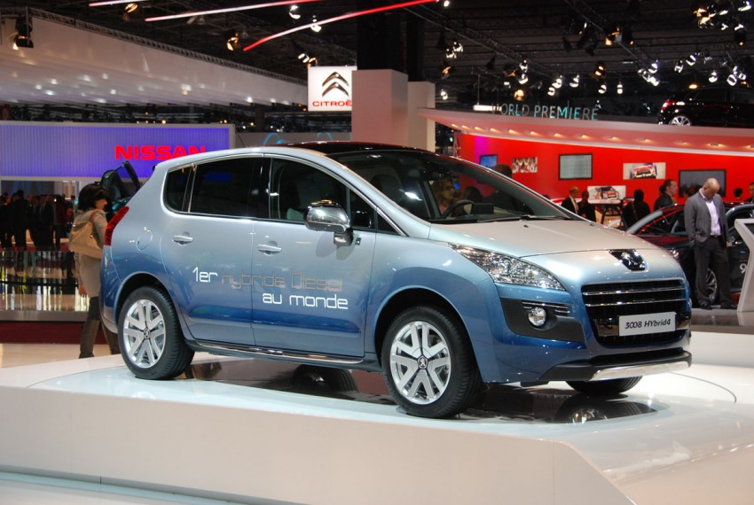 Peugeot 3008 HYbrid4, world's first diesel hybrid Image #161828