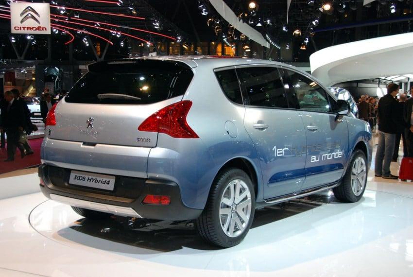 Peugeot 3008 HYbrid4, world's first diesel hybrid Image #161829