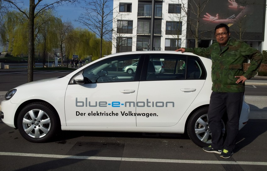 Electric Volkswagen Golf Blue-E-Motion prototype – a preview test drive in Wolfsburg, Germany Image #127805