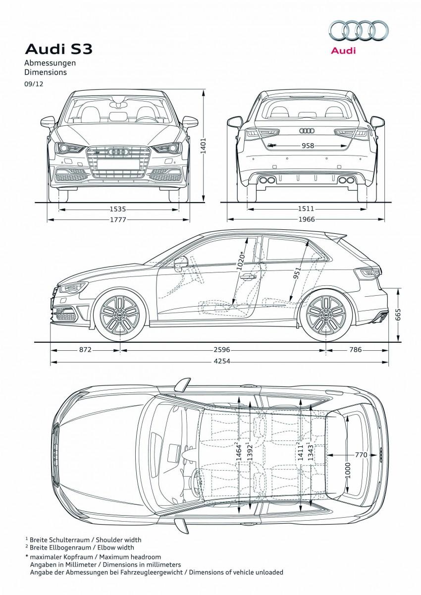 New Audi S3 for Paris premiere – new 2.0 TFSI, 300 PS Image #132469
