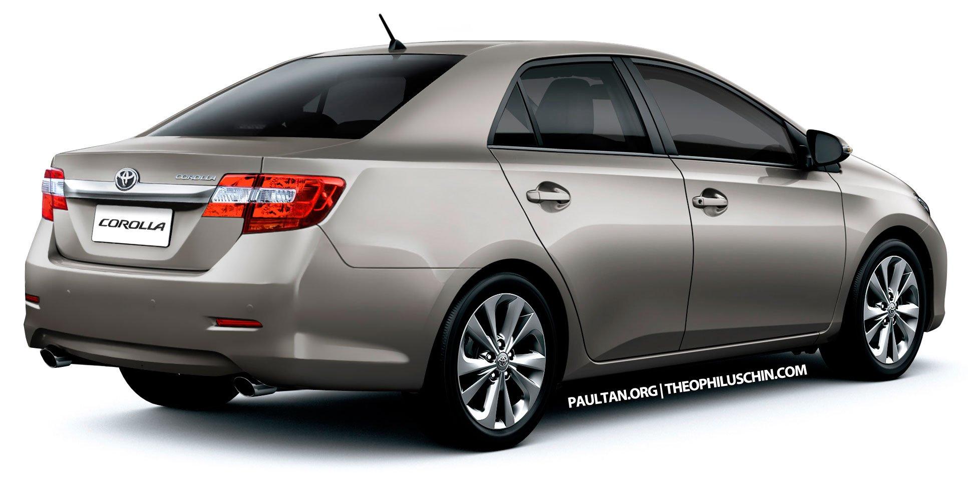 new toyota corolla altis sedan to debut in 2013. Black Bedroom Furniture Sets. Home Design Ideas