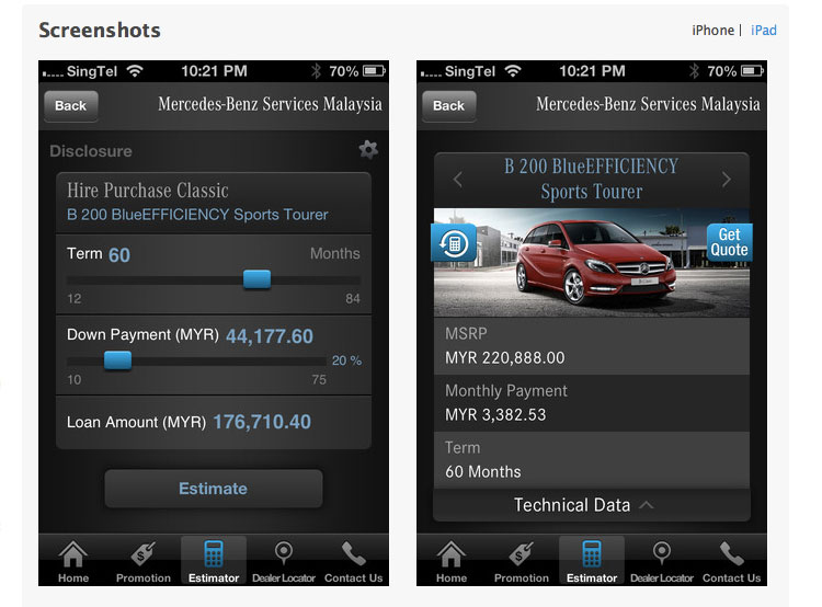 Mercedes benz launches mymbfs app for iphone ipad for Mercedes benz apps