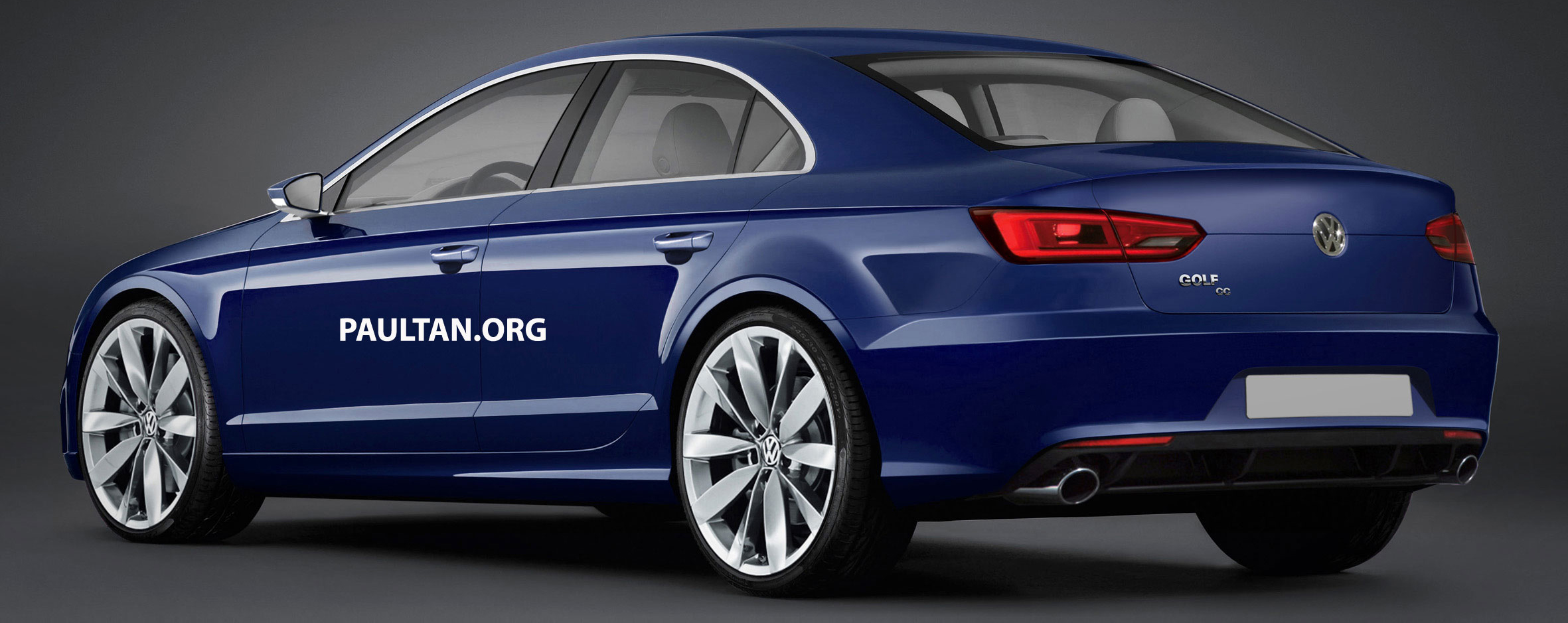 Volkswagen Golf CC rendered, to surface in 2015