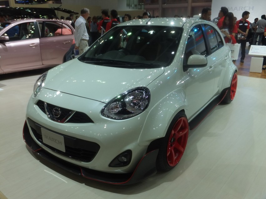 Nissan March facelift marches in at the Bangkok show Image #164447