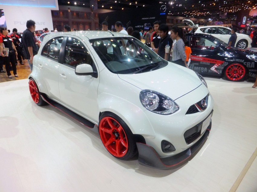 Nissan March facelift marches in at the Bangkok show Image #164493