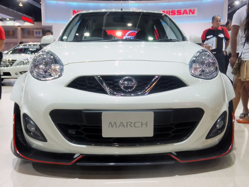 Nissan March facelift marches in at the Bangkok show Image #164494