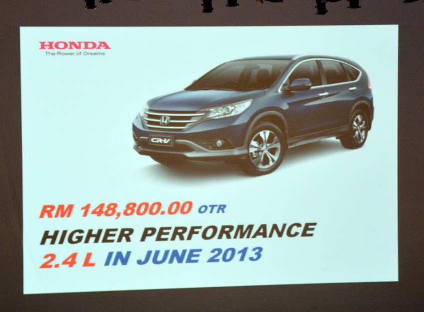 Honda CR-V launched – 2.0 litre, CKD, RM148,800 Image #159153