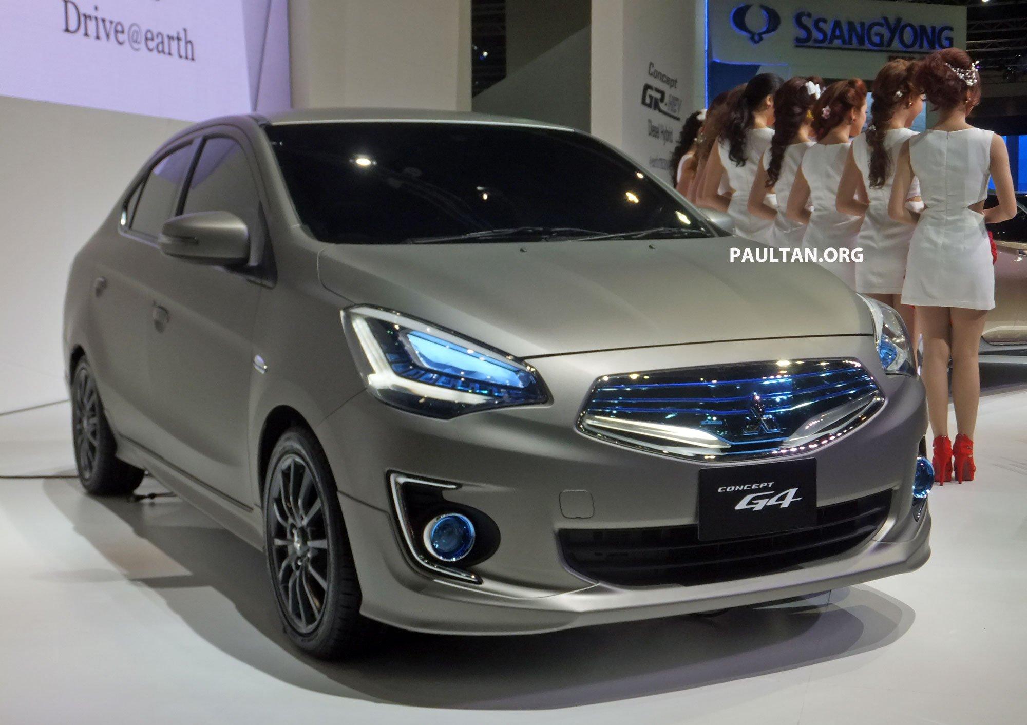 Mitsubishi Concept G4 previews Mirage sedan