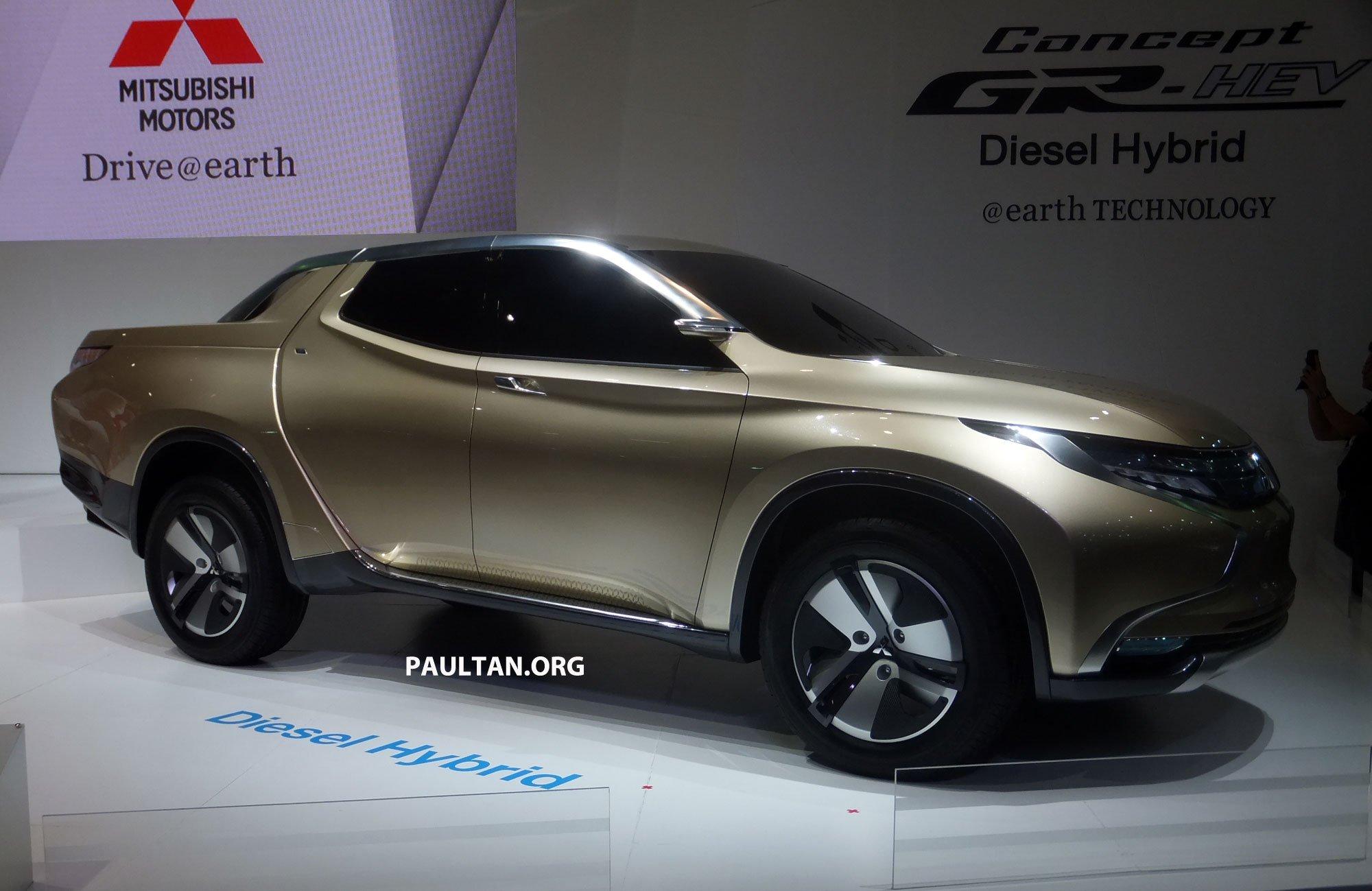 Mitsubishi Gr Hev Concept Hints At Next Triton Paul Tan