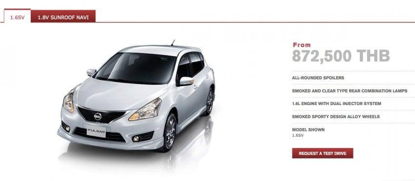 Nissan Pulsar five-door hatch launched in Thailand Image #161029