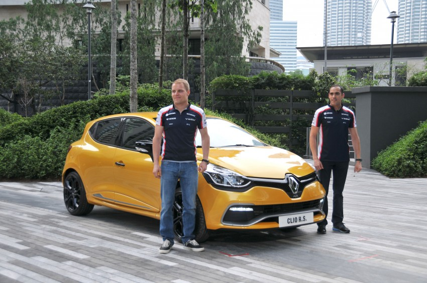 Renault Clio RS 200 EDC makes its Asian debut in KL, presented by the Williams Formula One racing drivers Image #162836