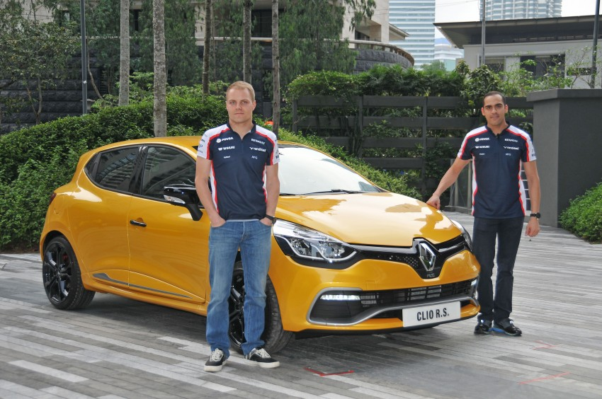 Renault Clio RS 200 EDC makes its Asian debut in KL, presented by the Williams Formula One racing drivers Image #162837