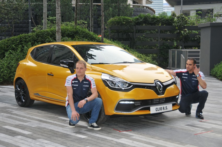 Renault Clio RS 200 EDC makes its Asian debut in KL, presented by the Williams Formula One racing drivers Image #162838