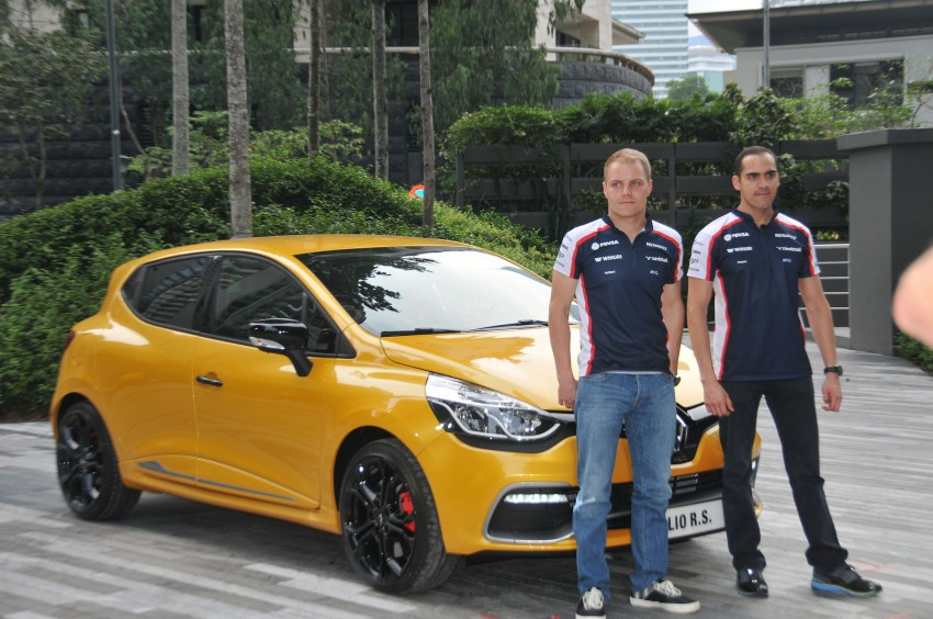 Renault Clio RS 200 EDC makes its Asian debut in KL, presented by the Williams Formula One racing drivers Image #162841